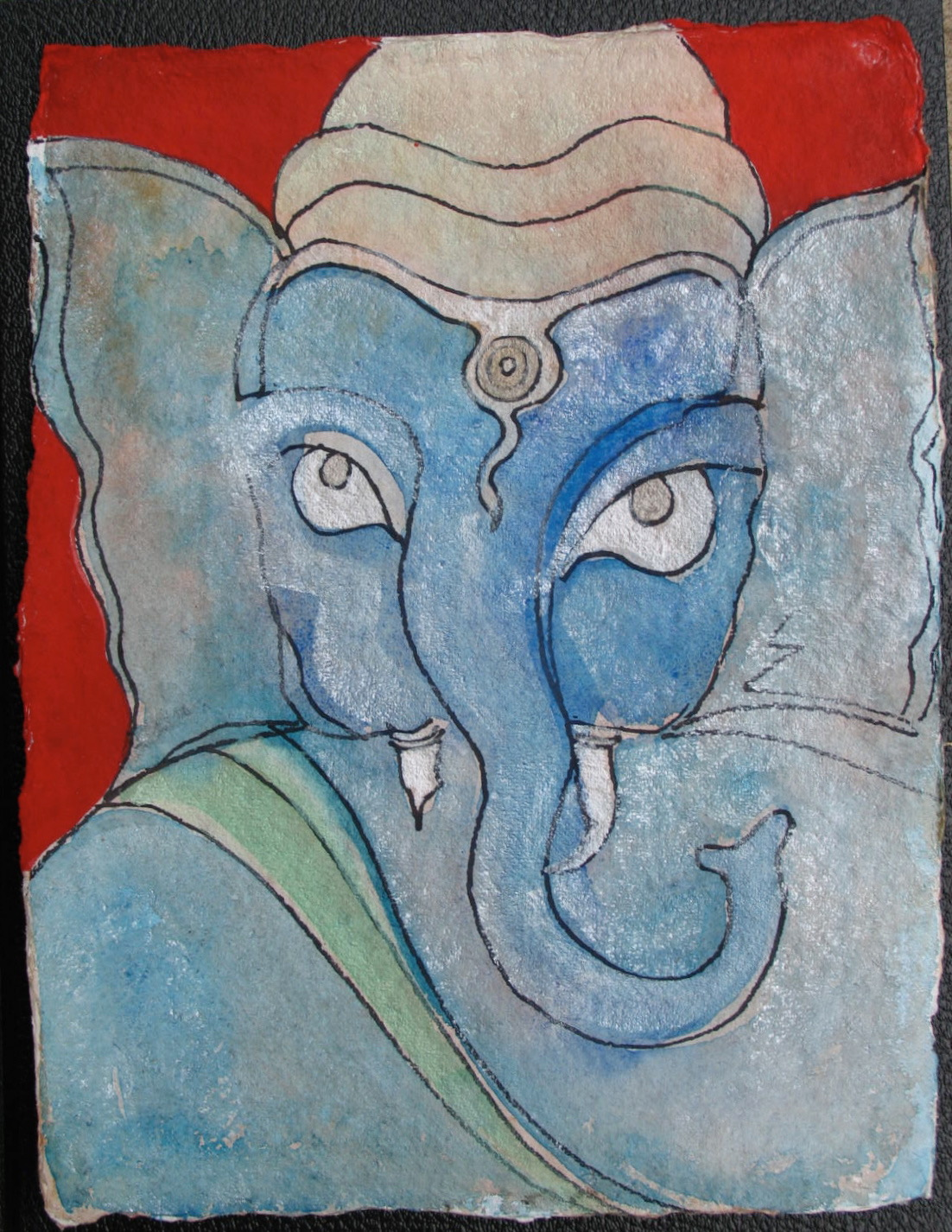 Sri Ganesh with Red Background