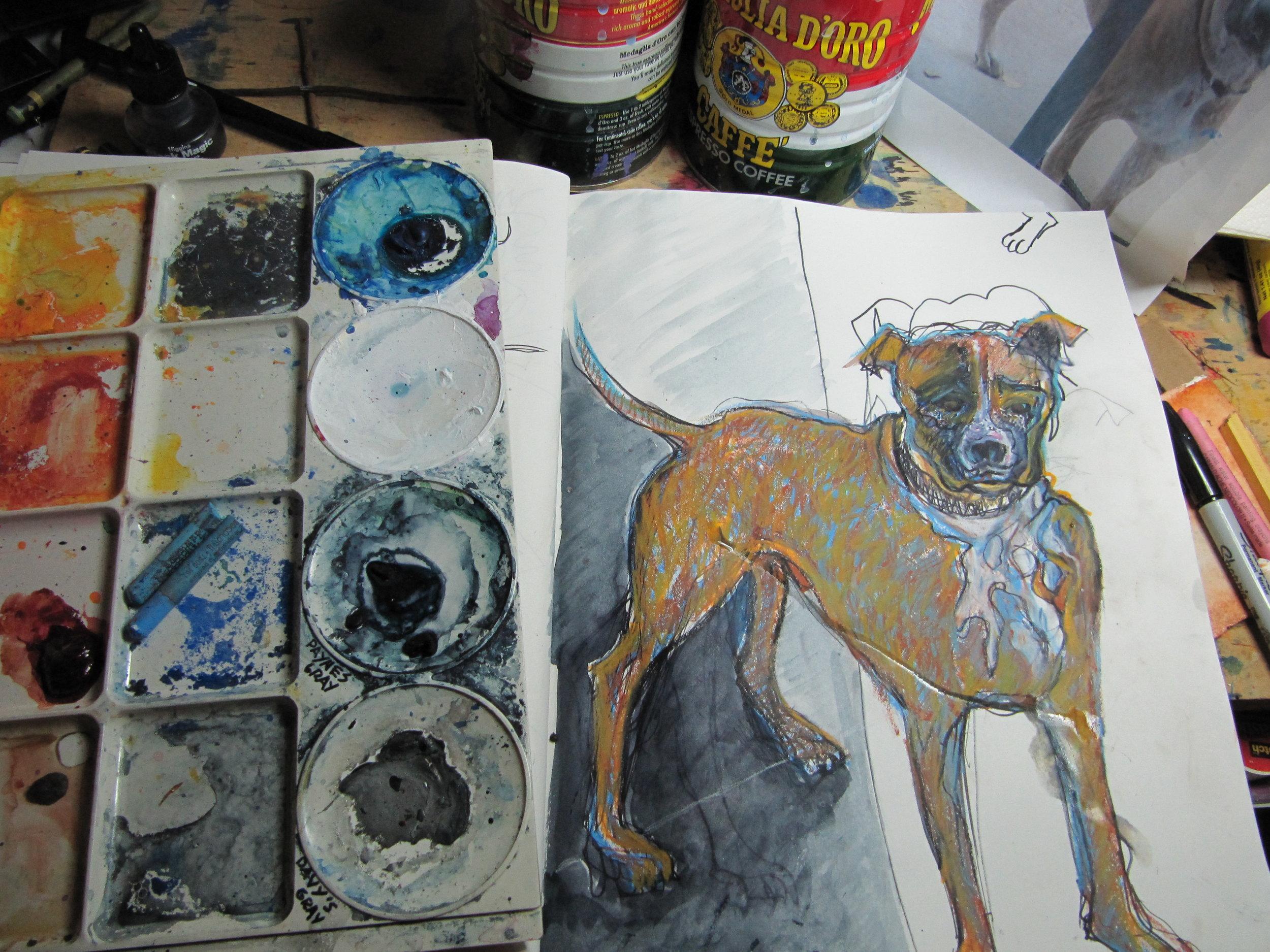 Sketchbook in Studio