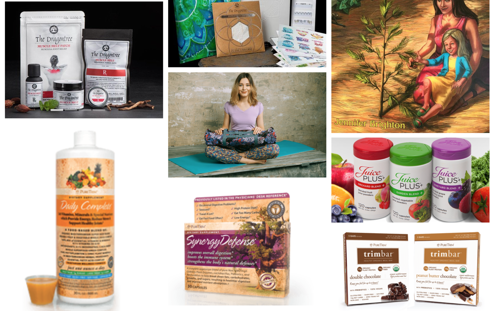 Hand made Beautiful Yoga Mat Bags * Dragon Tree Chinese Medicine Products * PureTrim Products * Juice Plus Products