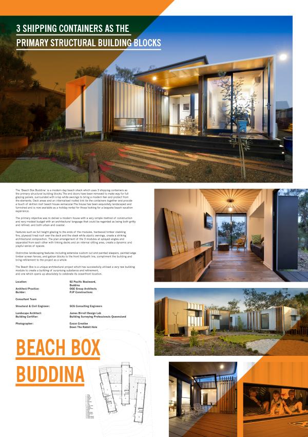 Oge Wins Award For Beach Box Buddina O G E Group Architects