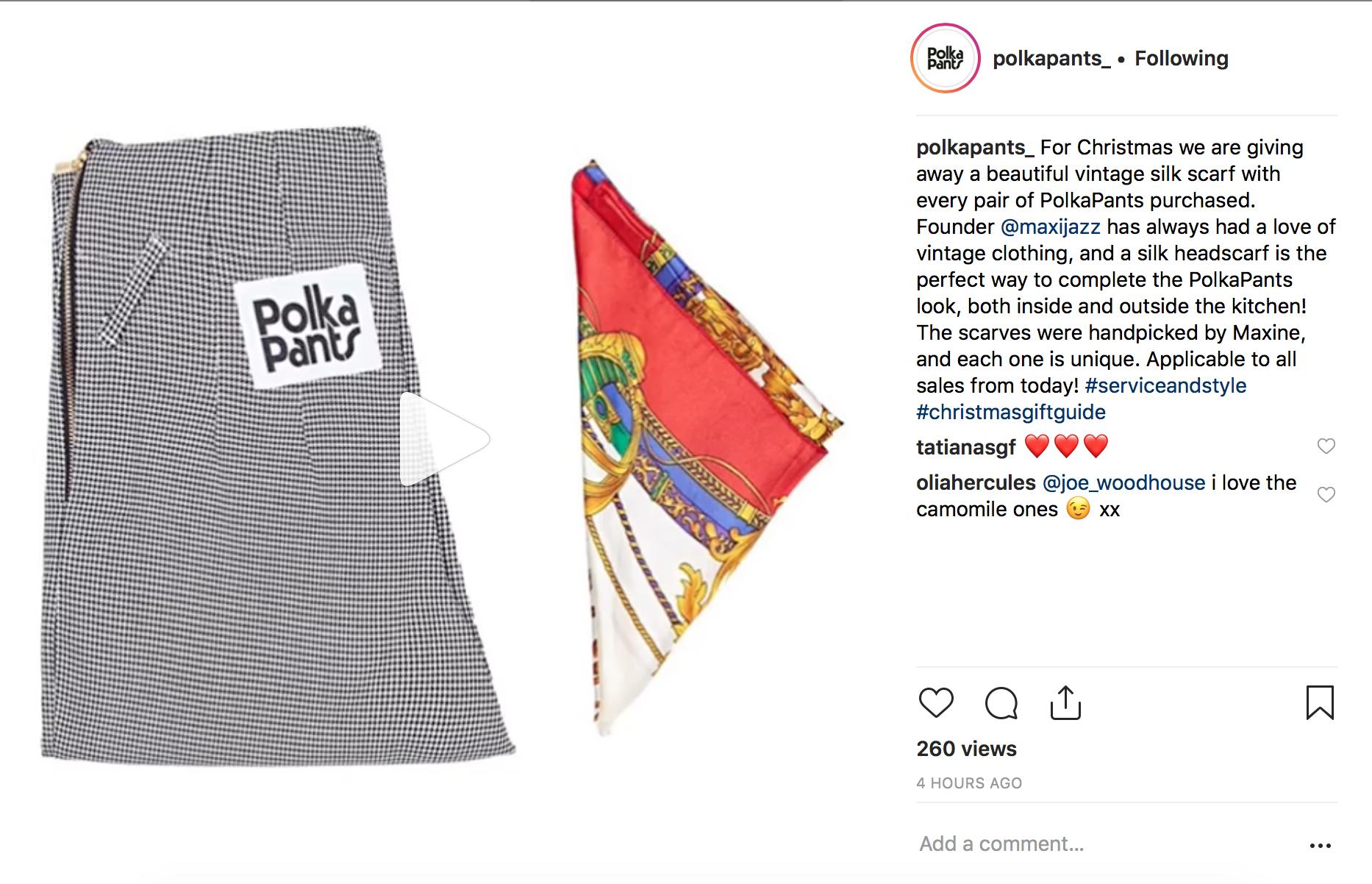 Polka Pants Holiday Gifting Promo for 2018.