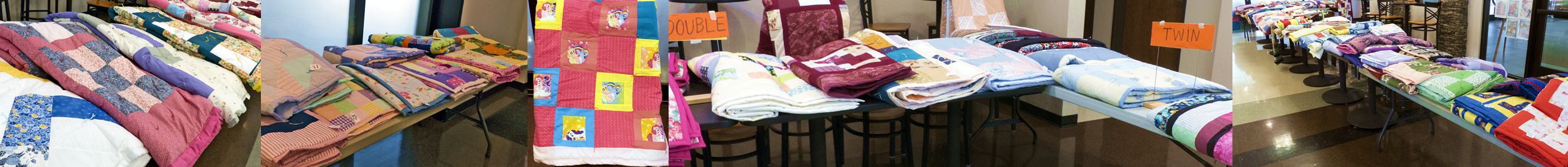 Quilts at an annual quilt sale!