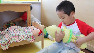 My Relatives Tease My Sonfor Playing with Dolls - by Katie Hadjolian