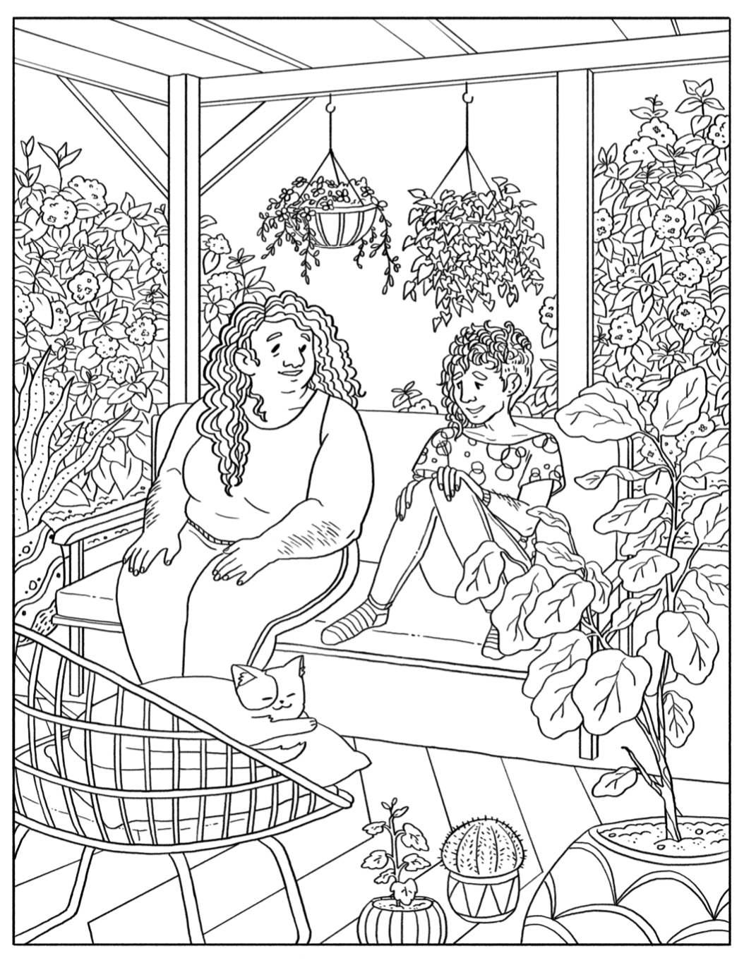 Click the image to download the coloring page by Ashanti Fortson!