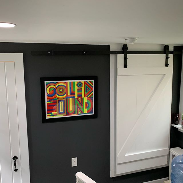 Slide to the left to open the door... The customer/part of the family is thrilled with this cute project. . . . . . #reno #laundryroom #project #houseidea #homedesign #interiordesign #connecticut #renovation #woodworking #plumbing #electrician #slidingdoors #newtown #blackandwhite #homedecor #mudroom #painting #inspiration