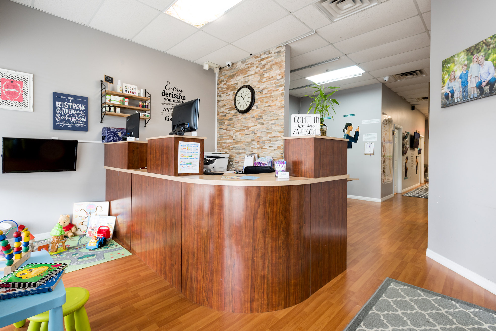 Front office Live Well Chiropractic