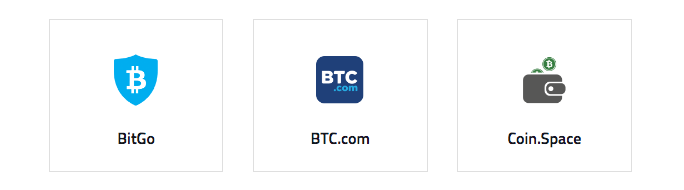 Popular online bitcoin wallets via  bitcoin.org