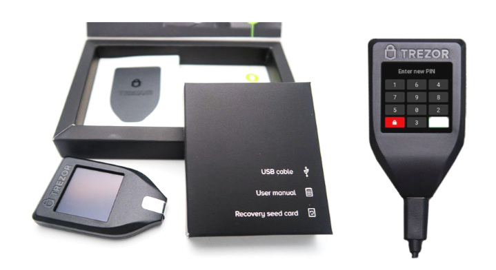 Trezor Model T Review - packaging out of the box
