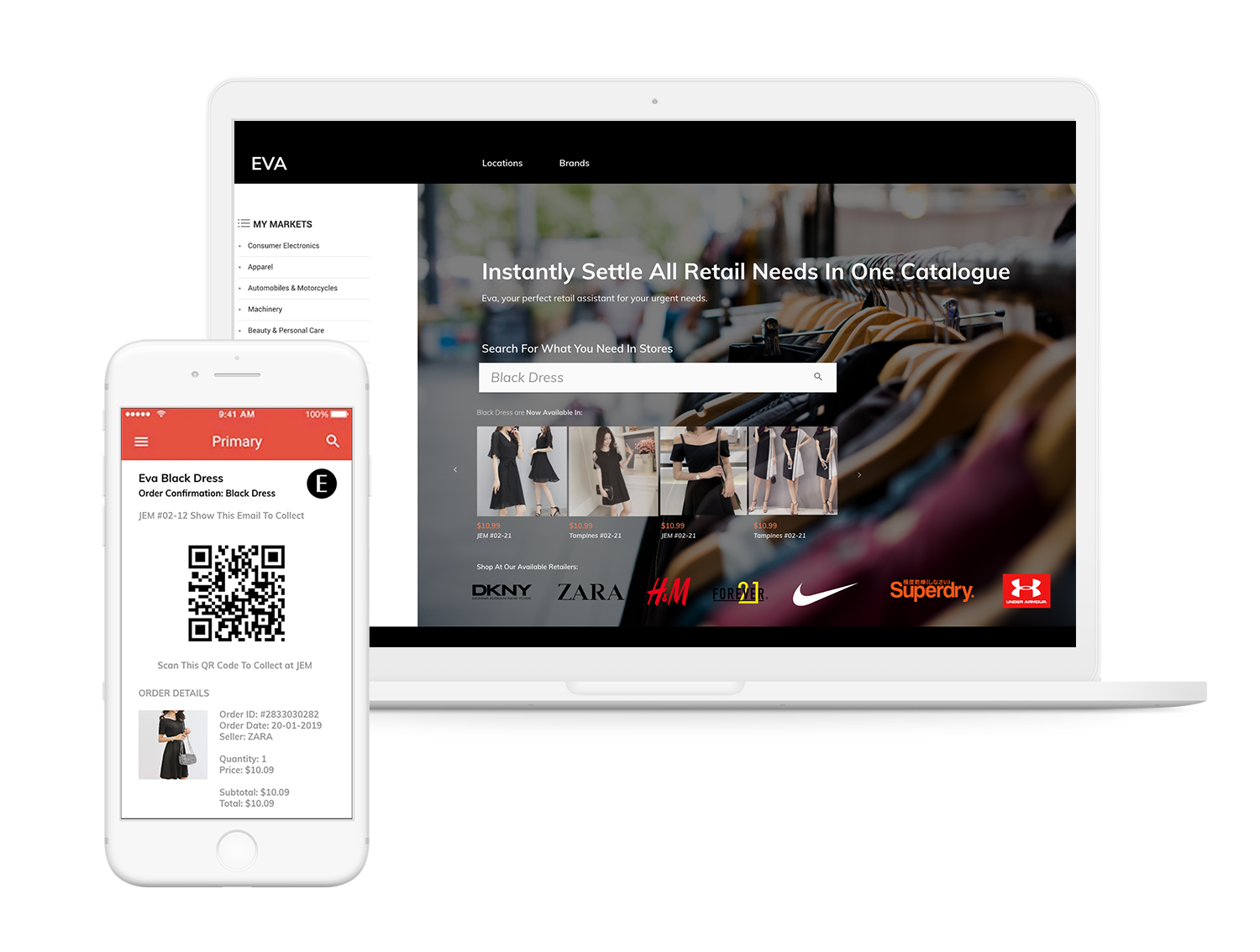 Eva: Online Catalogue for Offline Shopping
