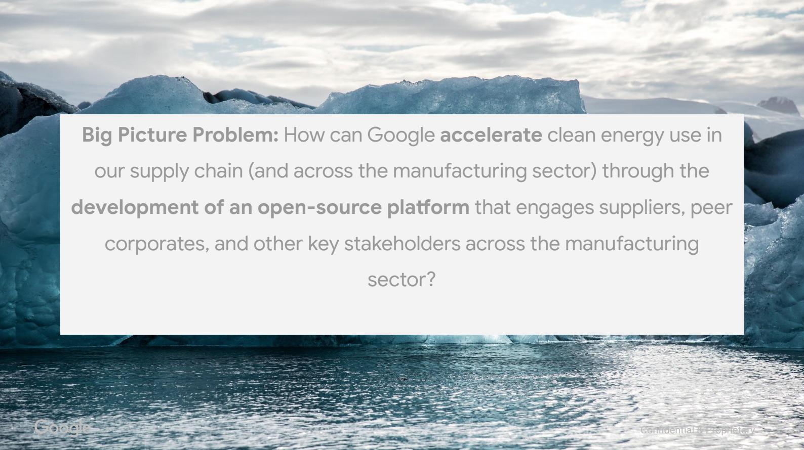 Google Supply Chain Clean Energy Challenge