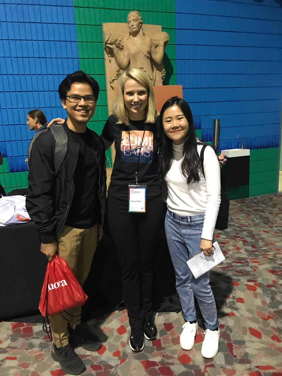 Photo with Marissa Mayer at Internapalooza 2019