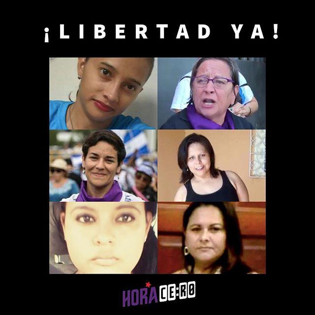 ¡Poner mantas no es delito! Libertad ya para las defensoras de DDHH. Neyma Hernández Mirna Blandón Tamara Dávila Guisella Ortega Amelia Urbina Doris Hernández
