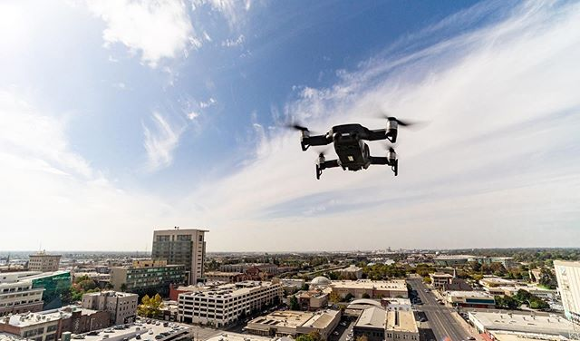 Got to take the drone out for a spin around Downtown Stockton! Swipe left for a photo and video of the Medici Artist Lofts building (formally Medico Dental) • • • #dronestagram #aerials #dji #mavicair #stocktonca #downtown #cityscape #droneshots #taketothesky #dronepilot #droneproduction #aerialphotography #aerialview #aerialvideography