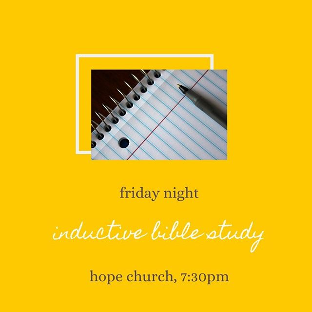 FRIDAY NIGHT! We resume our inductive bible study! Bring your topic ideas and verses as we put into practice what we've learned! . . . . . #LettuceLove #LettuceFellowship #CPCWilmington