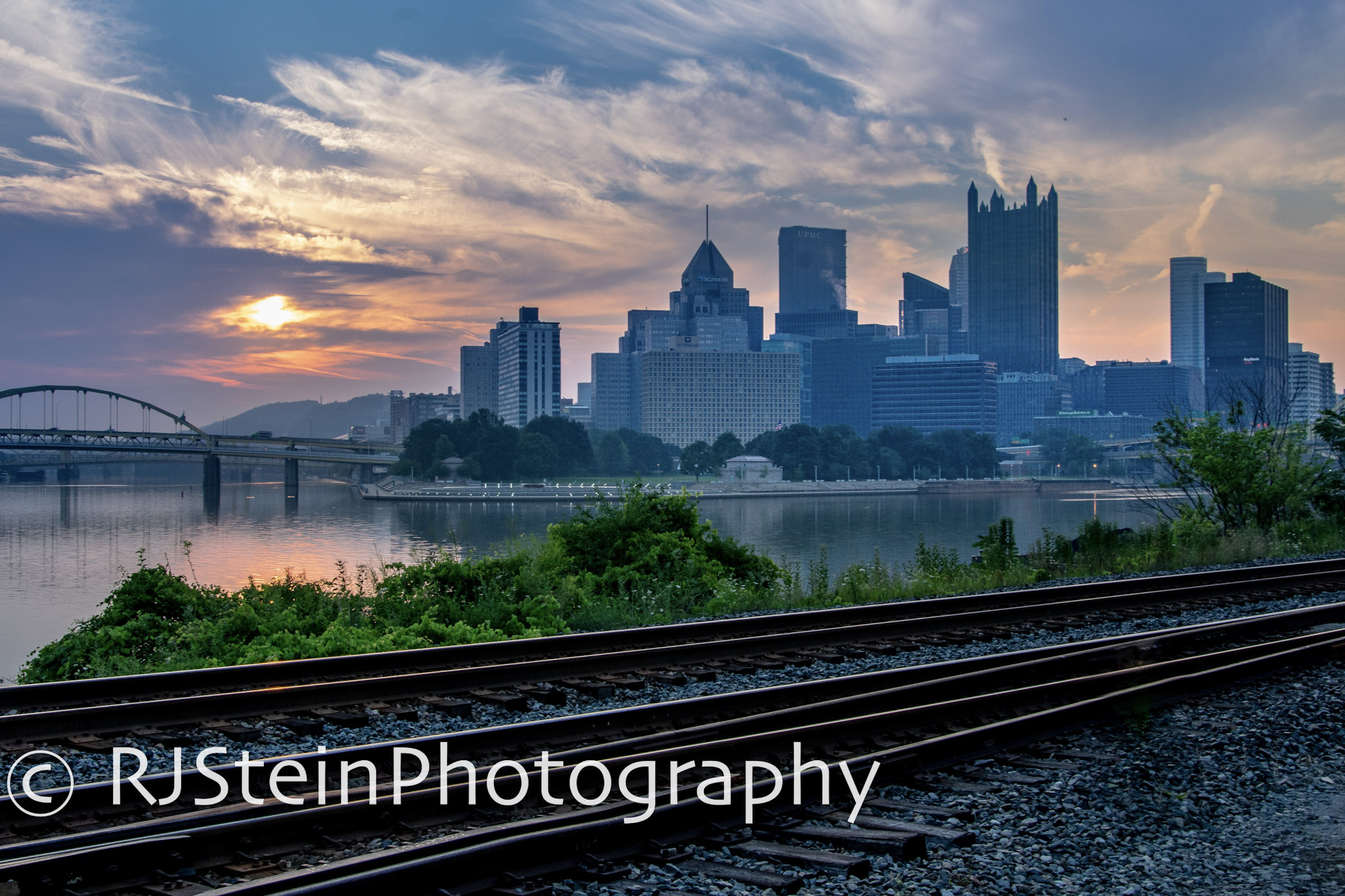 good morning from the train tracks, pittsburgh, 2018