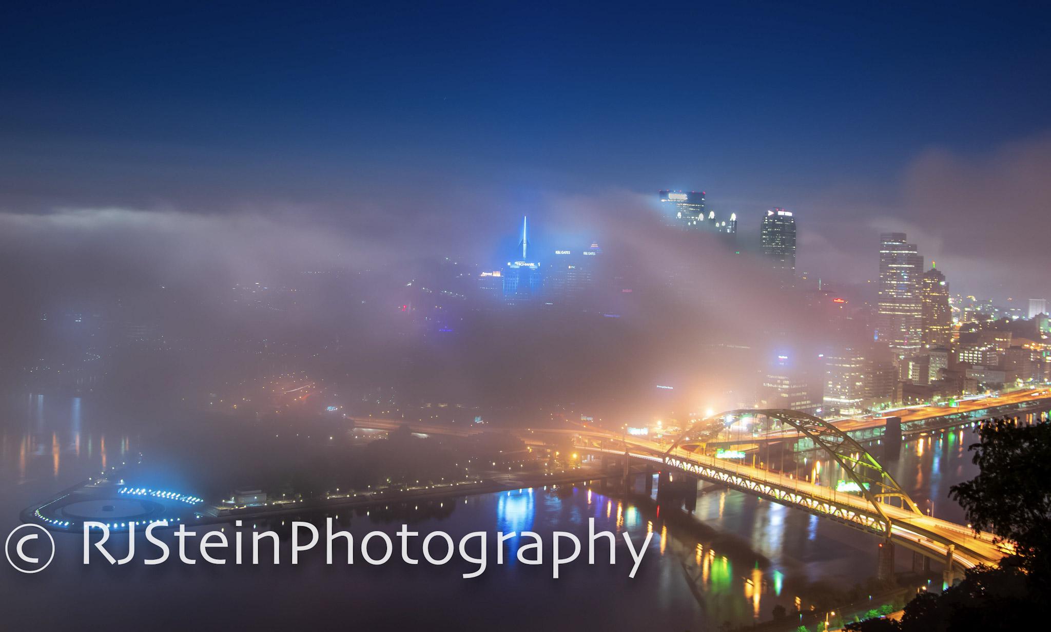 fog before cloud city, pittsburgh, 2018