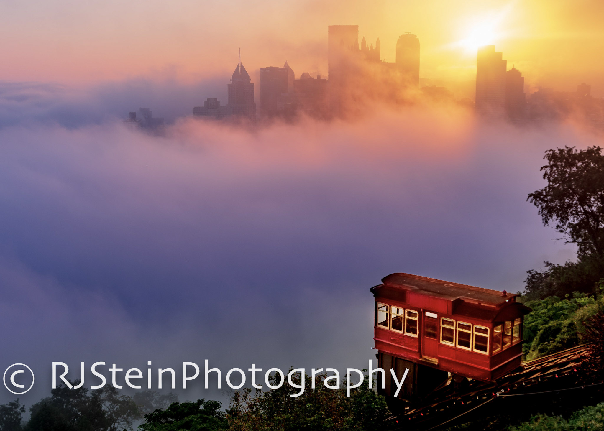 cloud city at the duquense incline, pittsburgh, 2018