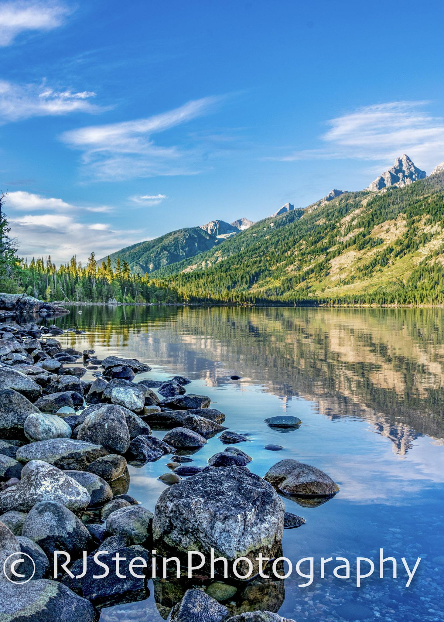 jenny lake reflections, wyoming, 2018