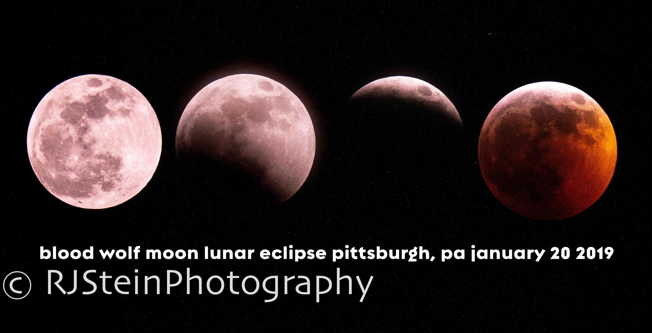 blood wolf moon lunar eclipse pittsburgh, 2019