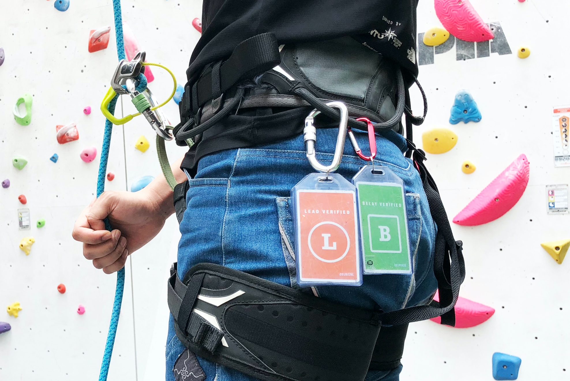 Ready for verification? - Take the assessment and get a verification tag to display on your harness! This is required only if you wish to use the lead climbing wall, or to use a belay method not shown in the safety briefing.