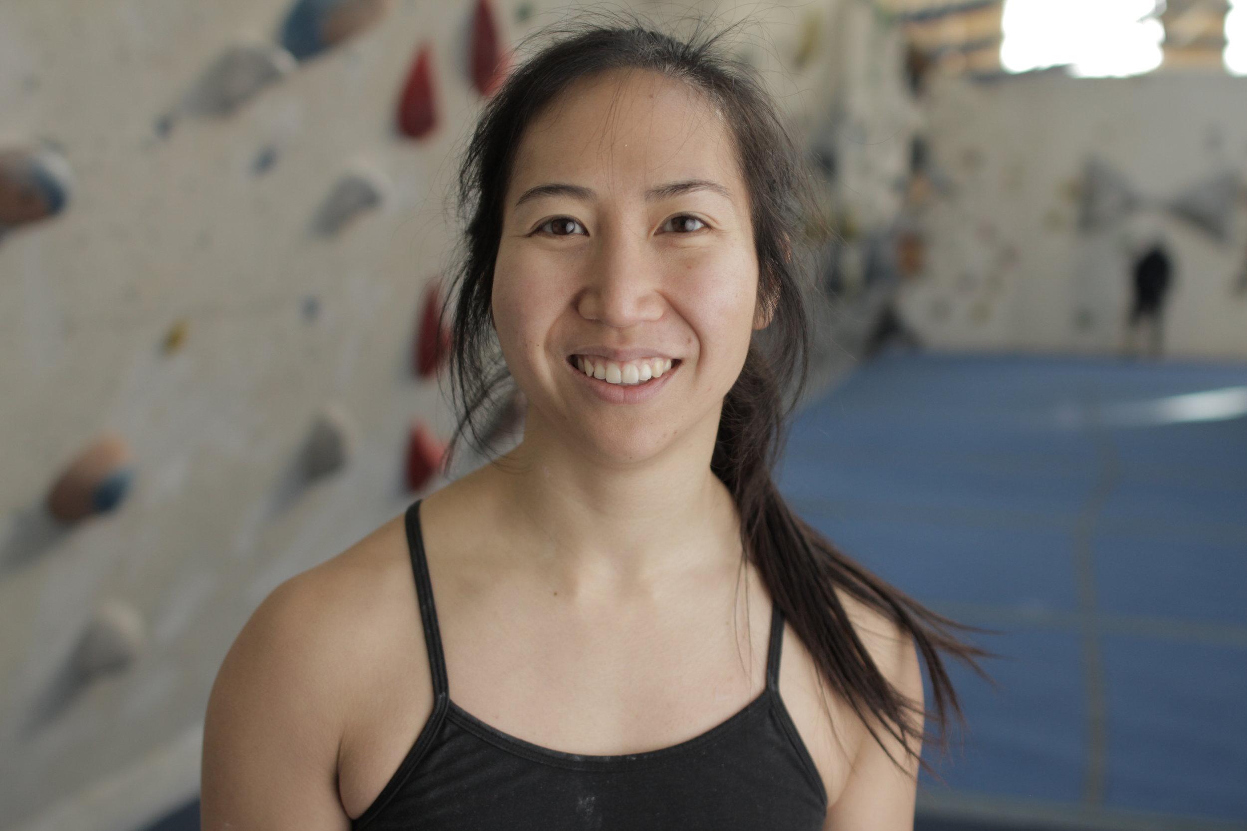 Fun fact: Xian can do a one arm pull-up.  Check out her climbing videos  @xiangoh_