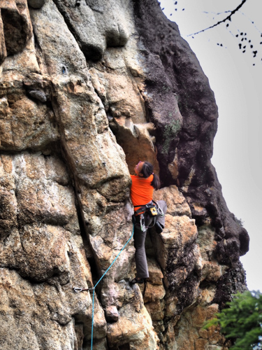 ‍Mel showing us how it's done. Tororo **(5.12a / 7a+ 23m).