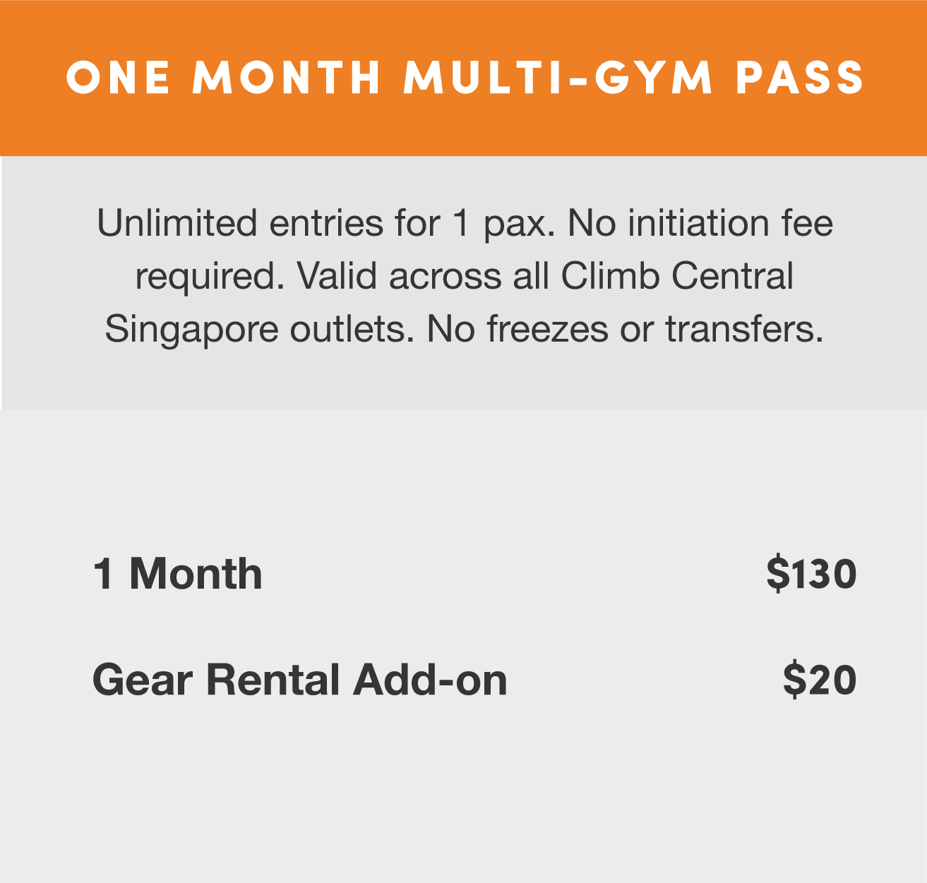 Climb Central Rates Multi-Gym Pass