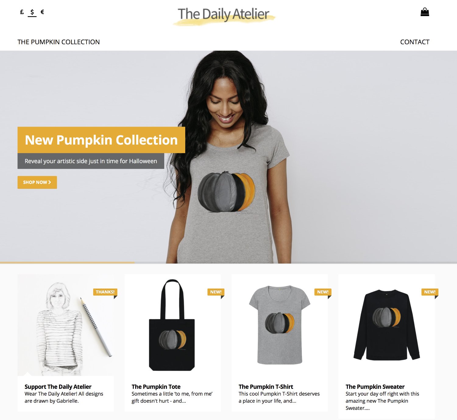 The Daily Atelier Clothing Shop with Teemill.com!