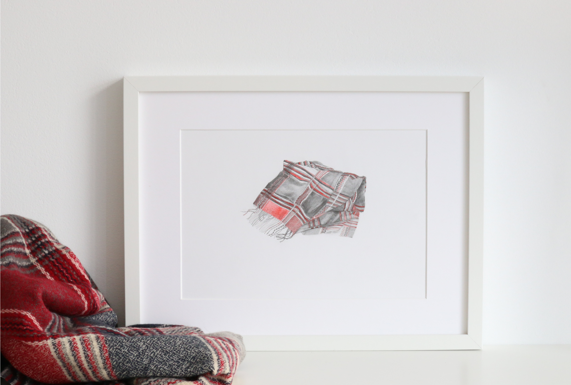 The final drawing is ready to frame or gift |  So Ready for Autumn , by The Daily Atelier
