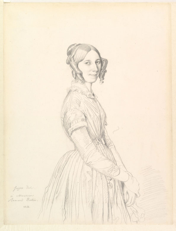 Madame Armand Bertin, née Marie-Anne-Cécile Dollfuss , by Jean Auguste Dominique Ingres, 1843. Graphite on wove paper. Metropolitan Museum of Art, New York, gift of Mrs. Charles Wrightsman, 2012.