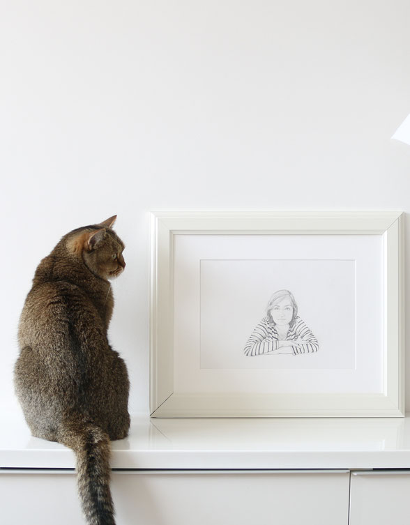 The finished drawing is ready to frame or gift |  Drawing a Self-Portrait with Pencil , by The Daily Atelier