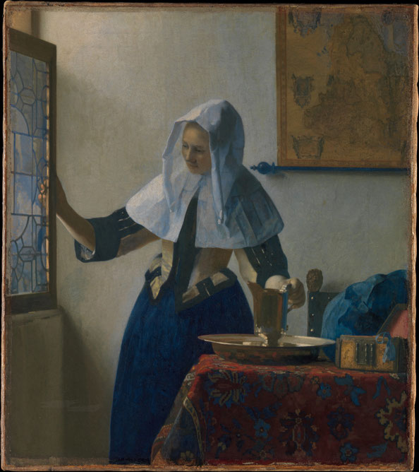 Johannes Vermeer,  Young Woman with a Water Pitcher , ca 1662, oil on canvas, Metropolitan Museum of Arts, New York, Marquand Collection, Gift of Henry G. Marquand, 1889.