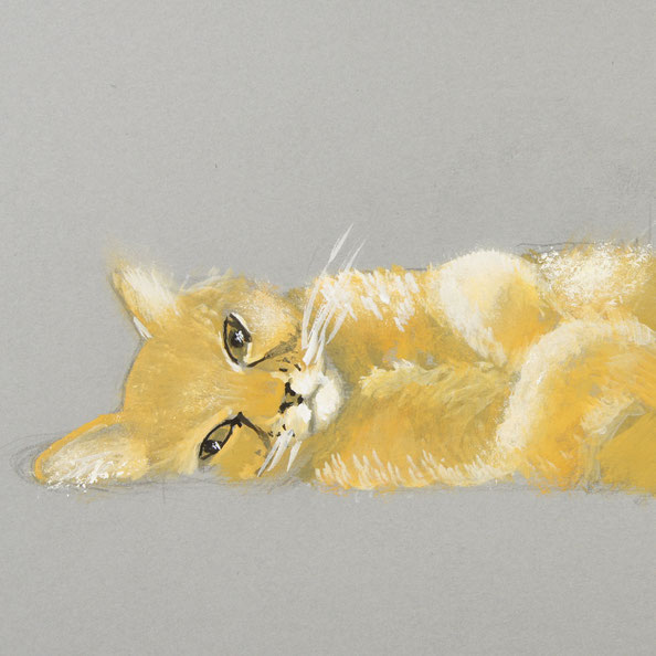 Finished painting |  Painting a Cat with Gouache , by The Daily Atelier