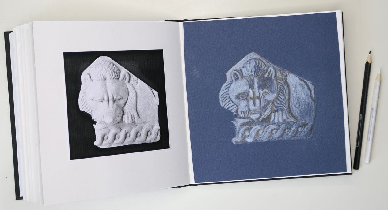 A new addition to my sketchbook. |  Another Lion's Head in my Sketchbook , by The Daily Atelier.