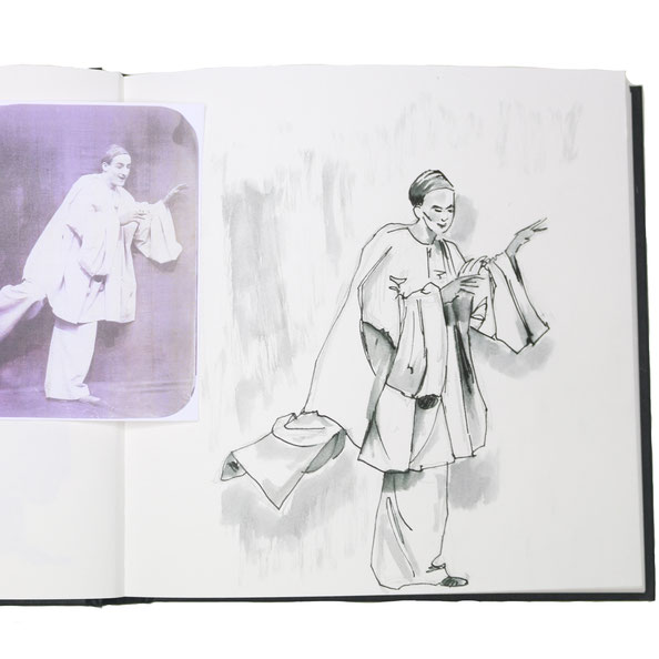 Finished drawing on my sketchbook |  Drawing a Moving Figure in my Sketchbook , by The Daily Atelier