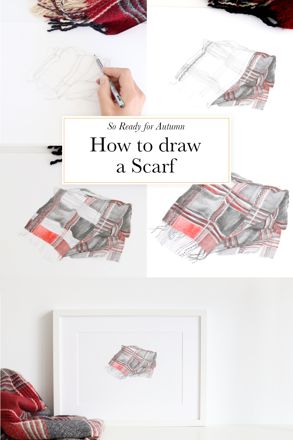 How to draw a scarf | The Daily atelier