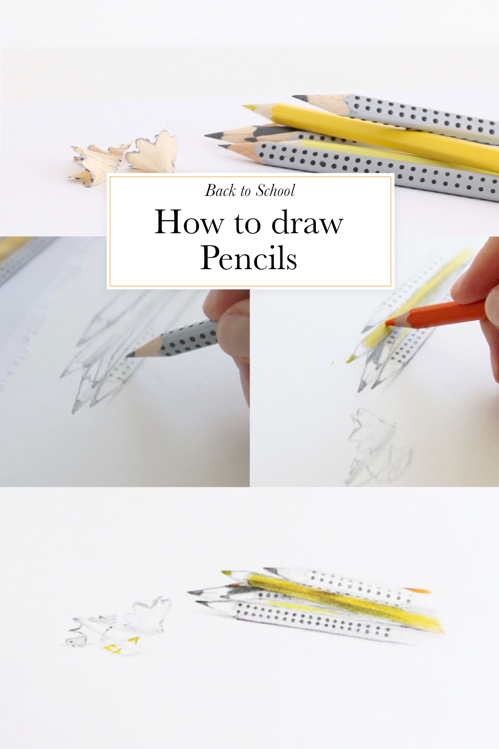 How to draw pencils | The Daily Atelier