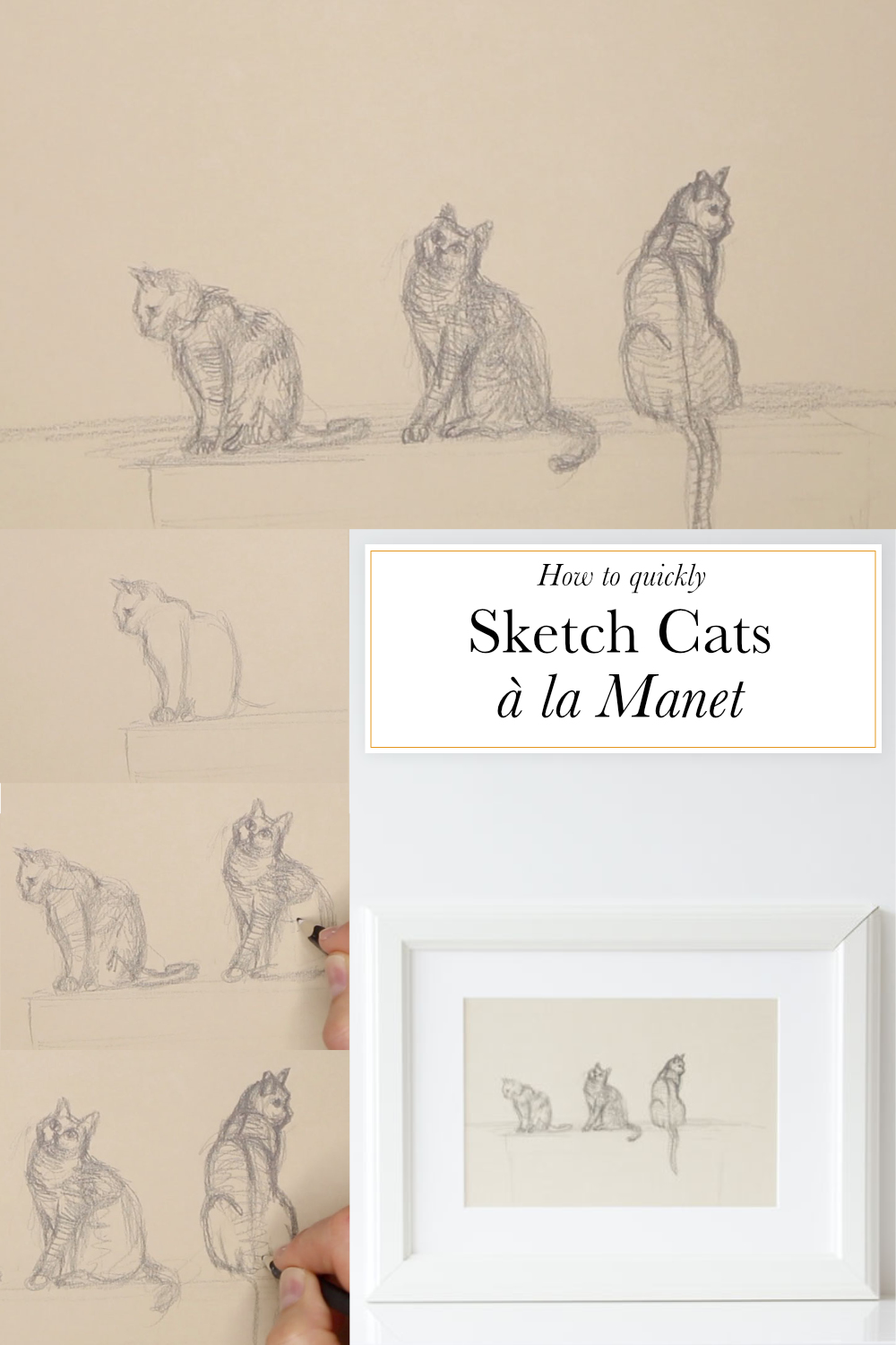 How to quickly sketch Cats à la Manet    The Daily Atelier