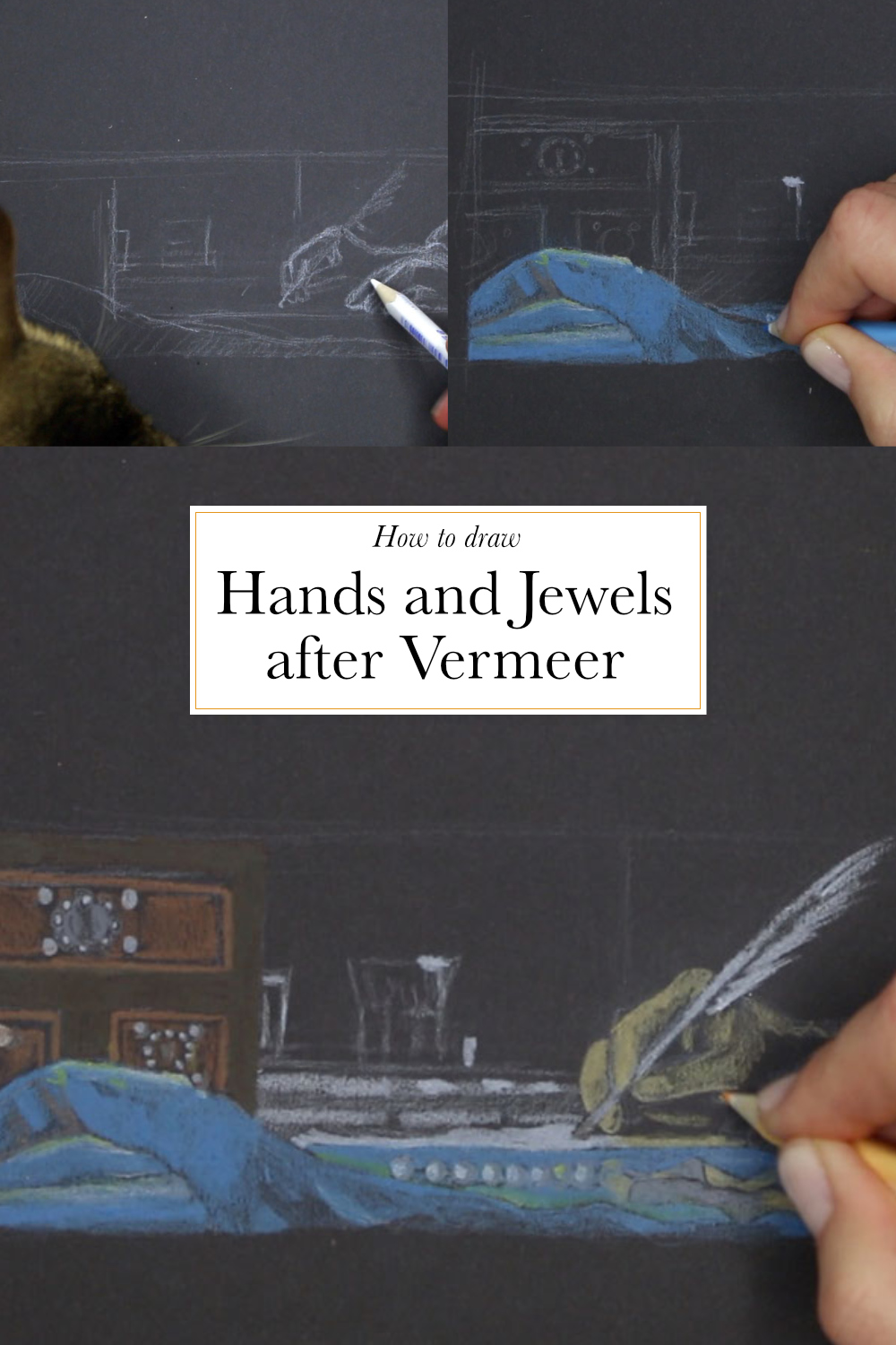 How to draw hands and jewels after Vermeer  | The Daily Atelier