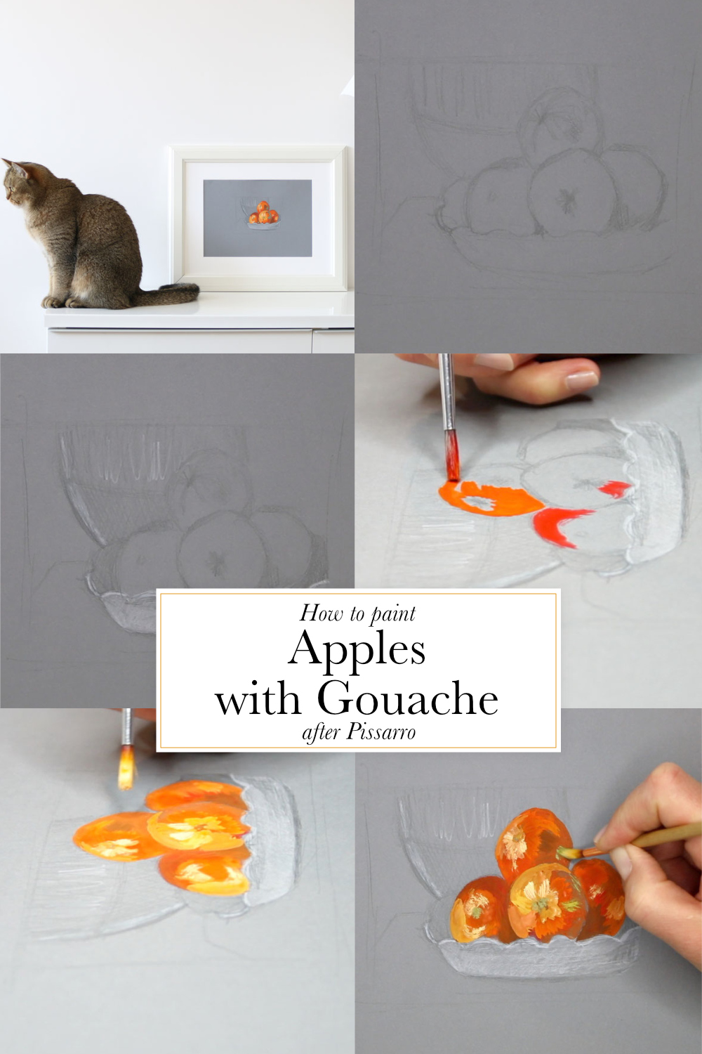 How to paint Apples with gouache after Pissarro    The Daily Atelier