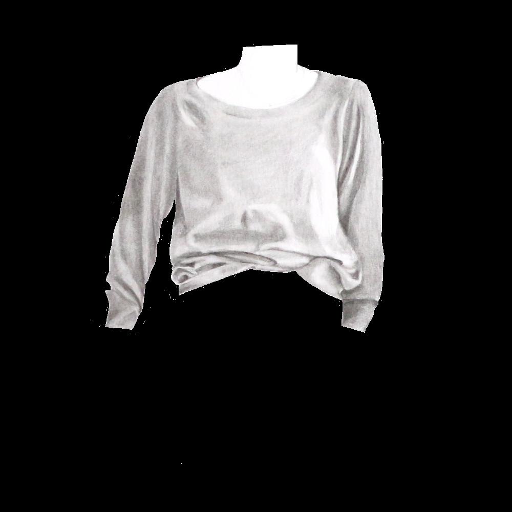 Grey Raglan - Everlane, Grey Cashmere Ballerina Raglan, size XL