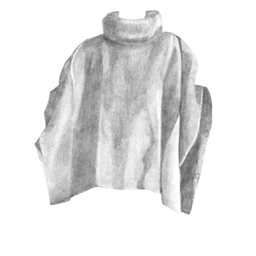 Grey Poncho - Seasalt, past collection, wool