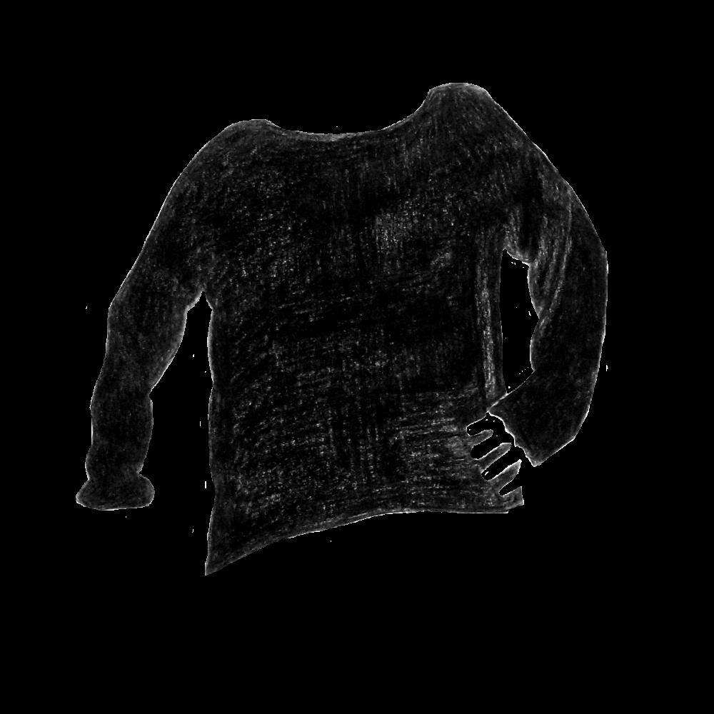 Black boatneck - Everlane, Black Cashmere Rib Boatneck, size M