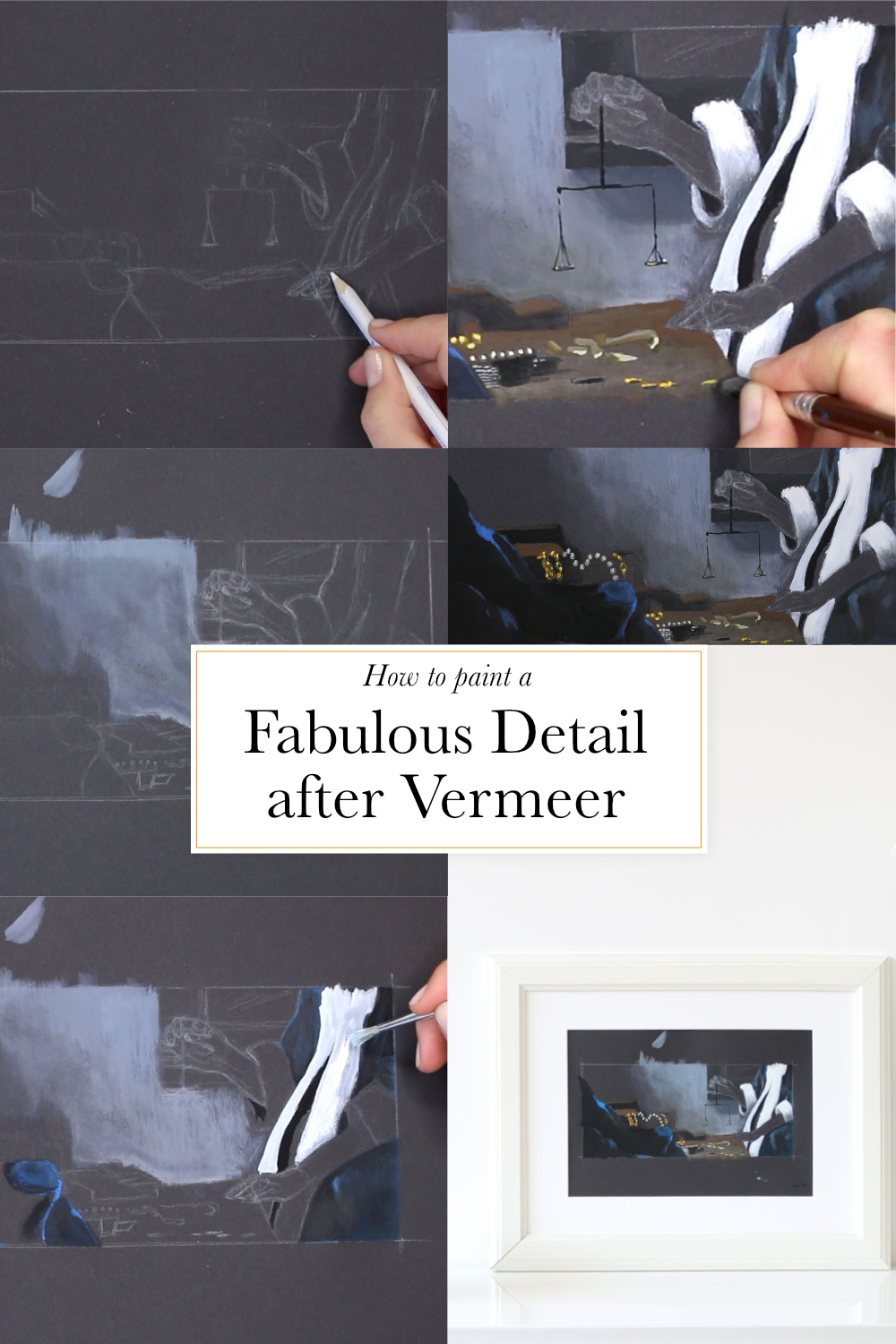 How to paint a fabulous detail after Vermeer    by The Daily Atelier