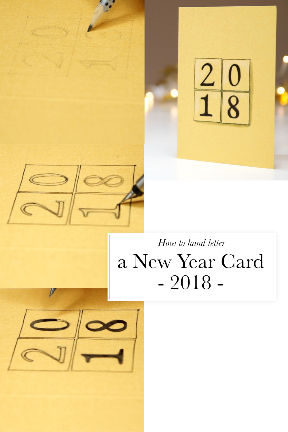 How to hand letter a New Year card |  by The Daily Atelier