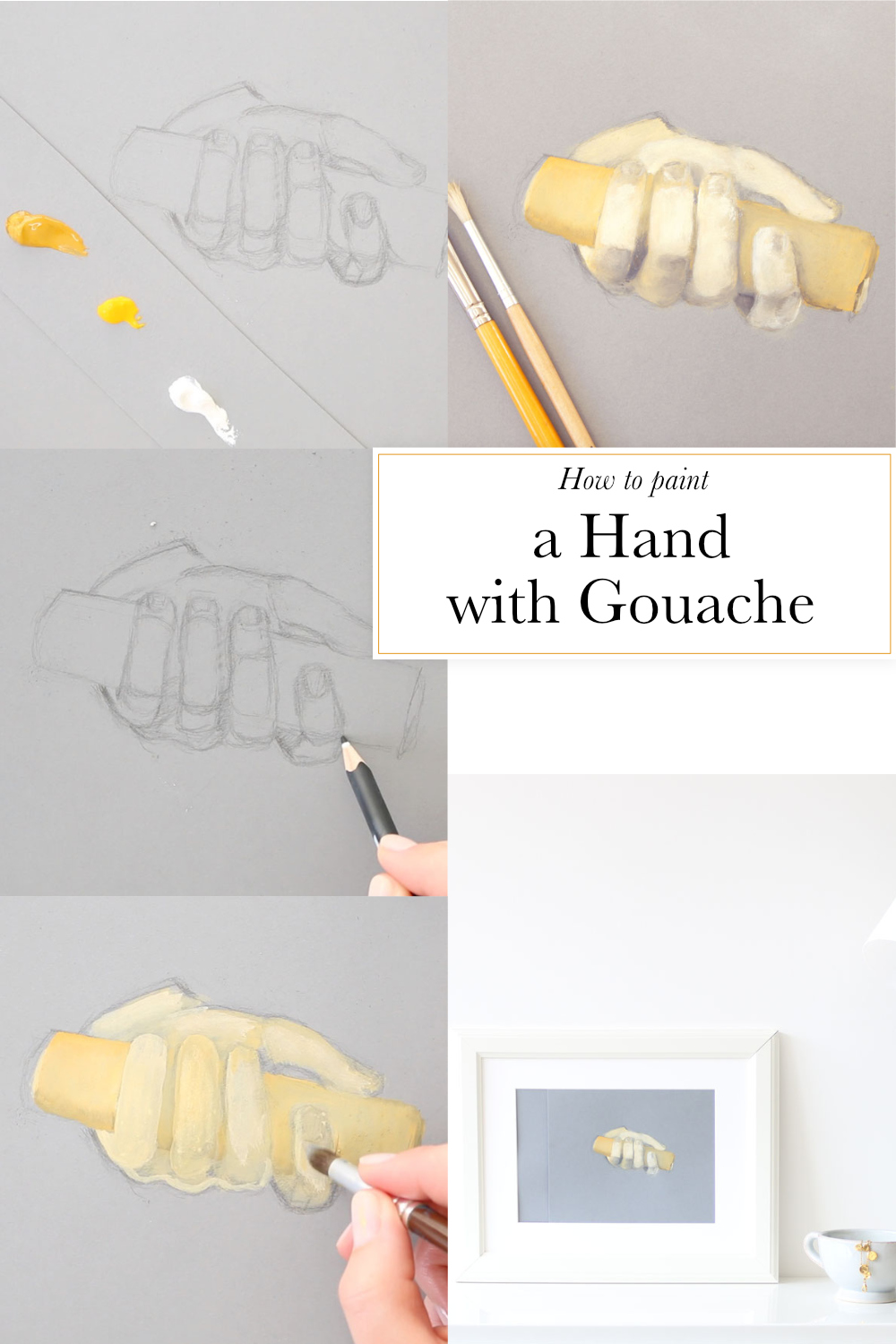 How to paint a hand with gouache |  by The Daily Atelier