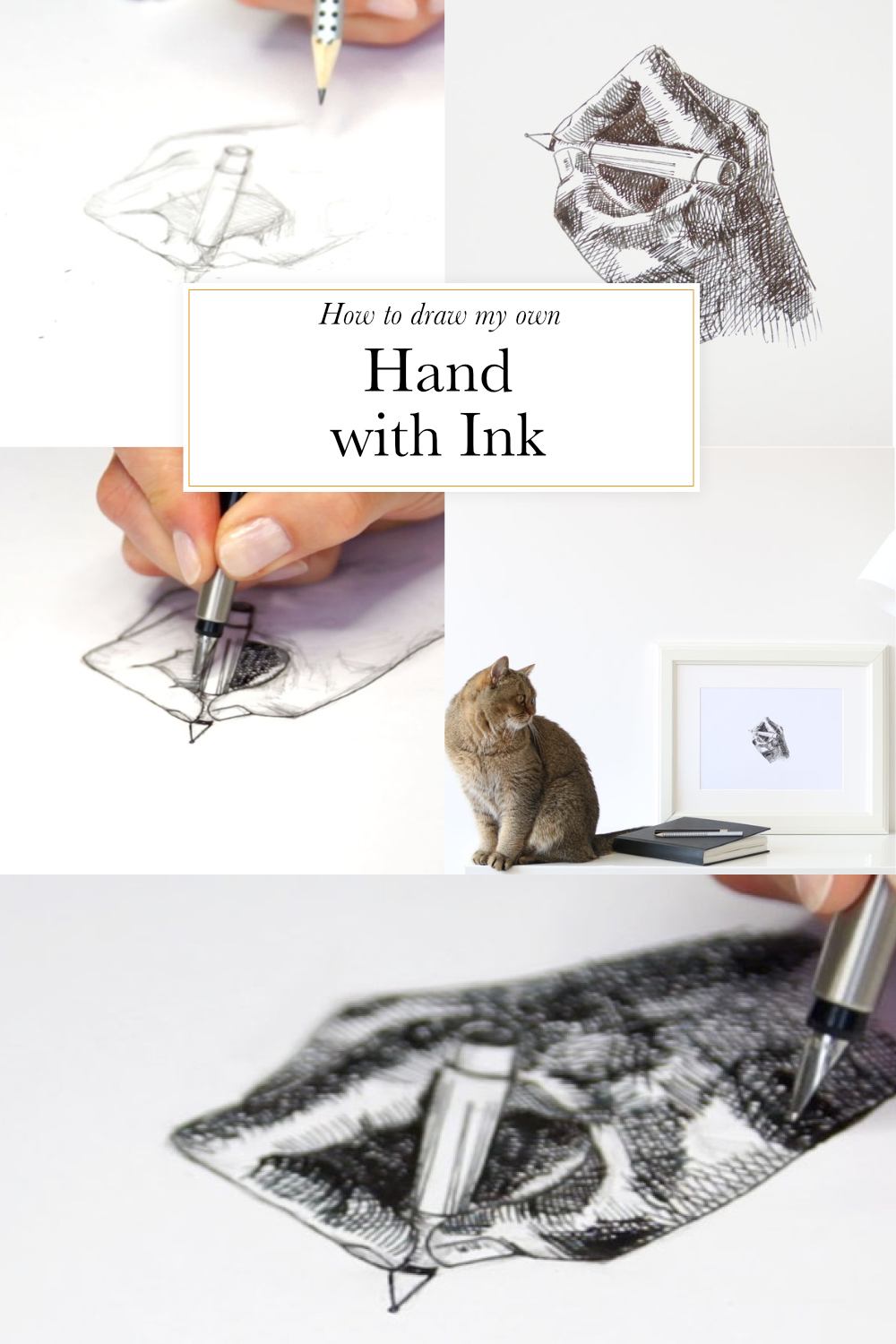How to draw my own hand with ink  | by The Daily Atelier