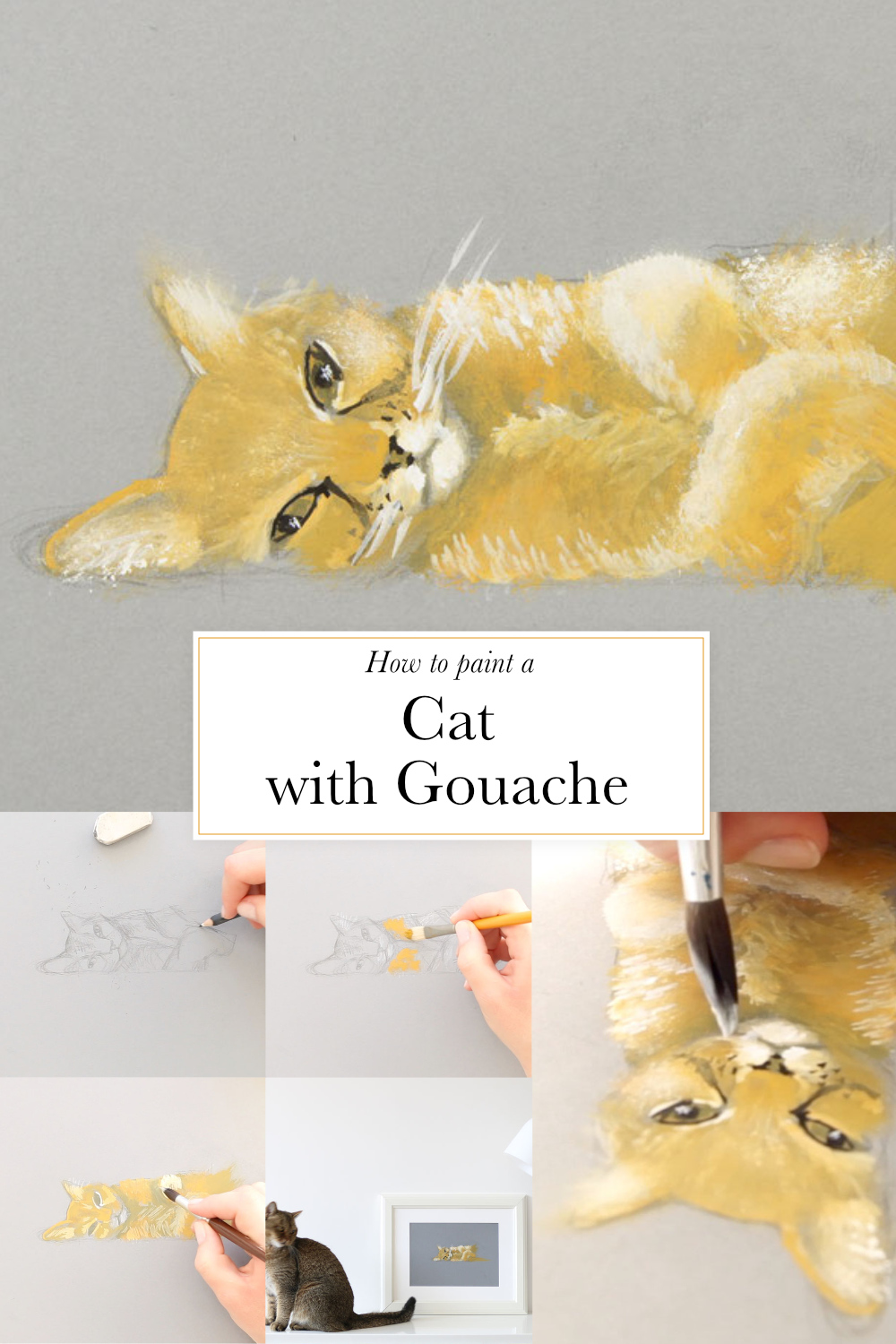 How to paint a cat with gouache  | by The Daily Atelier