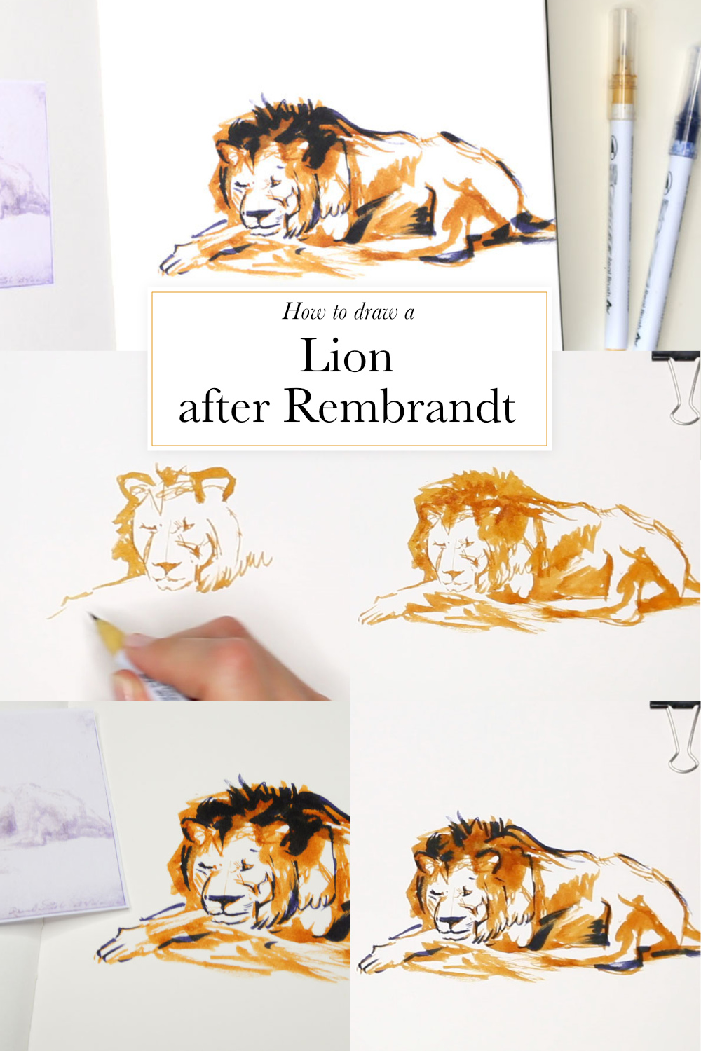 How to draw a lion quickly  | by The Daily Atelier