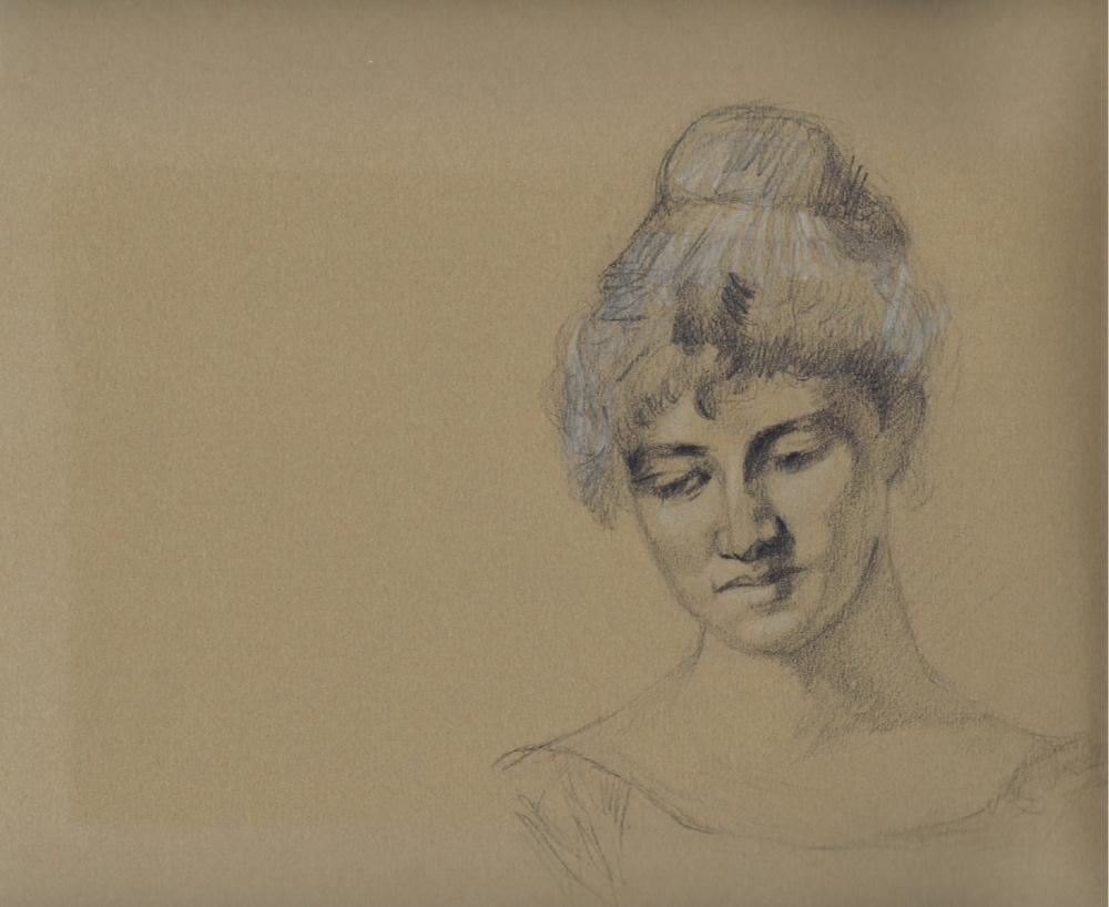 The finished drawing |  Sketching a 19th-Century Portrait , by The Daily Atelier